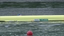 Barco de atleta do Cazaquistão vira na Lagoa Rodrigo de Freitas