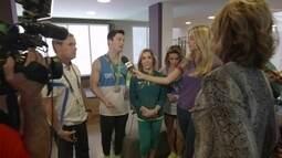 Encontro entre a equipe artística de ginástica do Brasil com Nadia Comaneci