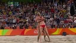 Melhores momentos: Brasil 1 x 2 Estados Unidos pelo bronze do vôlei de praia feminino