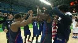 Seleção americana comemora ouro no basquete