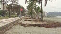 Obras após ressaca devem terminar apenas em dezembro em Santos
