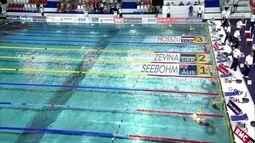 Katinka Hosszu fica em terceiro lugar nso 200m medley na Copa do Mundo de natação
