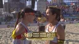 Fernandez e Baquerizo passam para a final, no mundial de vôlei de praia em Long Beach