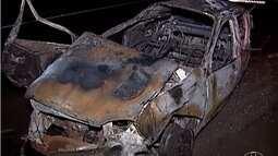 Quatro pessoas, da mesma família, morrem em acidente na BR-050