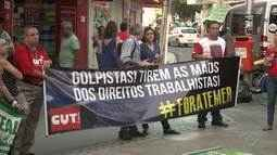 Ato público repudia votação contra o impeachment da presidente Dilma Roussef