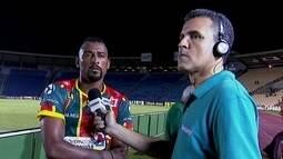 Autor de dois gols de pênalti, Elias comemora vitória do Sampaio Corrêa