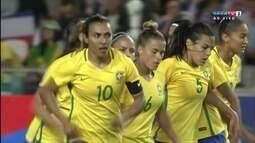 Os gols de França 1 x 1 Brasil em amistoso de futebol feminino