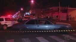 Assaltantes trocam tiros com a polícia e um morre em Uberlândia