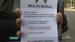 OAB cria 'multa moral' para quem para carro em vagas de deficientes, em Goiânia