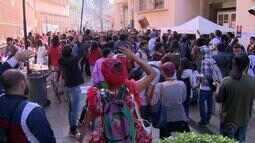 Estudantes protestam na UFRGS por mudanças no ingresso a universidade