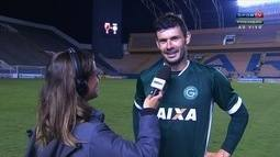Wesley Safadão? Zagueiro do Goiás releva gafe de locutor e exalta vitória