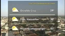 Meteorologia prevê sol entre nuvens no Oeste Paulista