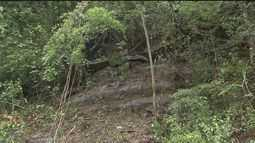 Pedra que rolou da encosta do morro e caiu na Mogi-Bertioga é retirada