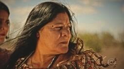 Ceci orienta Miguel e Olívia na recuperação da terra que o rapaz herdou