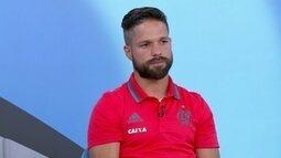 Diego recorda falta dura sobre Robinho na Europa e lamenta ausência na Olimpíada de 2004
