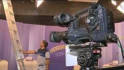 Várias equipes trabalharam para realização do debate eleitoral da TV Paraíba