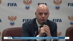 Reunião do conselho da Fifa pode trazer mudanças na Copa do Mundo e no Mundial de clubes
