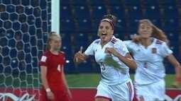 Os gols de Alemanha 1 x 2 Espanha pela Copa do mundo sub-17 de futebol feminino