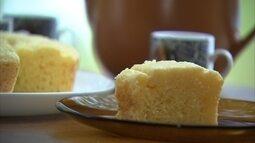 Bolo de pão de queijo é dica para fim de semana