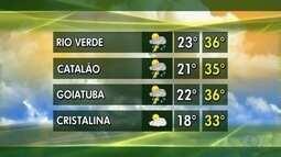 Confira a previsão do tempo para esta semana em Goiás