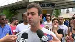 Marcelo Freixo (PSOL) fez campanha em Santa Cruz