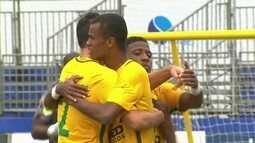 Os gols de Brasil 5 x 1 México pelo Mundialito de Futebol de Areia