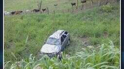 Família fica ferida em acidente na BR-369, em Campo Belo (MG)