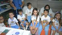 Crianças visitam clínica particular de vacinas em Campina Grande