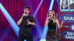 """Sandy e Adnet representam duplas inusitadas cantando músicas de """"Sandy & Junior"""""""