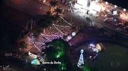 Árvore da Globo Nordeste é inaugurada com festa no Recife