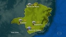 Zona de convergência de umidade continua provocando chuva em Minas Gerais
