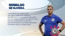 """William Machado afirma que direção do Corinthians fez """"trapalhada"""" ao demitir Oswaldo"""