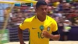 Confira primeiro gol do Brasil contra o Paraguai na Copa América de futebol de areia