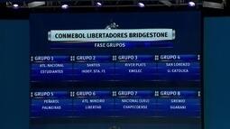 Palmeiras cai no grupo do Peñarol e Chapecoense fica no grupo 7