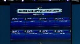 Cabeças de chave, Santos fica no grupo 2, Atlético-MG no 4 e Grêmio no 8 durante sorteio