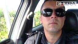 Policial é preso após gravar vídeo bebendo água de coco em serviço
