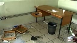 Centro da Secretaria da Justiça do Governo do Estado é invadido por vândalos
