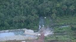Fazenda abre canal e desvia água que deveria ir para a barragem do Rio Descoberto