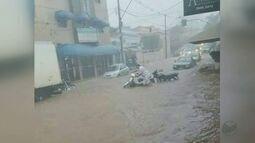 Chuva forte causa transtornos em Divinolândia, Mococa e Matão, SP