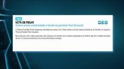 Grêmio divulga nota de pesar por falecimento de ministro do STF