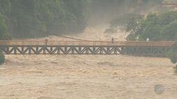 Rio Piracicaba sobre cinco metros e alaga pontos da cidade