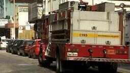 Idoso fica ferido em incêndio em restaurante no Centro de Juiz de Fora