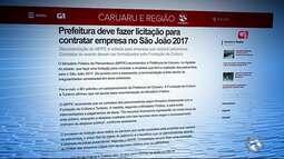 Prefeitura deve fazer licitação para contratar empresa no São João 2017