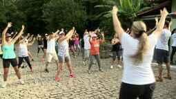 Fiéis fazem exercícios e caminhadas para Convento da Penha, no ES