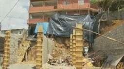 Chuva constante já traz consequências para moradores em Poços de Caldas (MG)