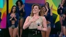 Cláudia Raia comemora 50 anos com o 'Domingão'
