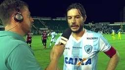 """Germano sobre a vitória em cima do Figueirense: """"A equipe foi muito coesa"""""""