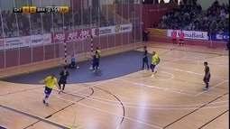 Os gols de Seleção da Catalunha 2 x 4 Brasil pelo amistoso internacional de futsal