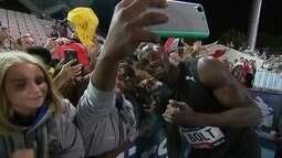 Usain Bolt participa do Bolt AllsStars em Melbourne, na Austrália