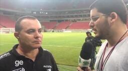Laelson Lima fala sobre derrota do Central por 4 a 2 para o Santa Cruz nesta quinta